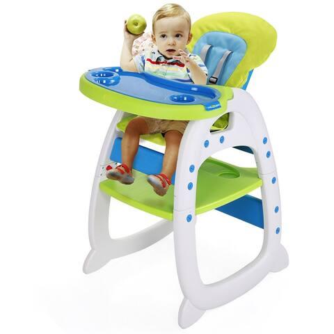 Doll blue green high chair-child dining chair - 8' x 10'