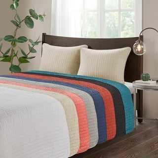 Link to Madison Park Jaxson Reversible Coverlet Set Similar Items in Quilts & Coverlets