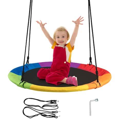 Goplus 40'' Flying Saucer Tree Swing Indoor Outdoor Play Set Swing for
