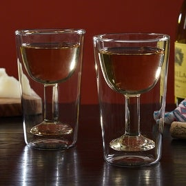 Madison Double-Wall Wine Glasses, Set of 2