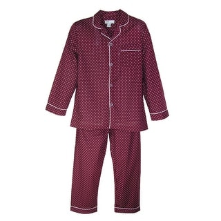 Ten West Apparel Men's Long Sleeve Long Pant Pajama Set