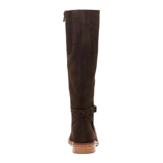 Clarks Women's Clarkdale Clad Knee High Boot Dark Brown Suede