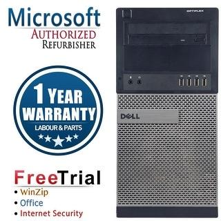 Refurbished Dell OPTIPLEX 990 Tower Intel Core i5 2400 3.1G 8G DDR3 240G SSD+2TB DVD Windows 10 Pro 1 Year Warranty - Black