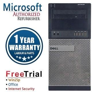 Refurbished Dell OptiPlex 990 Tower Intel Core I5 2400 3.1G 16G DDR3 2TB DVD Win 7 Pro 64 Bits 1 Year Warranty - Black