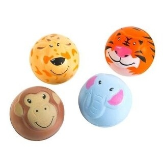 Zoo Animal Squeeze Stress Ball - 12 Pack