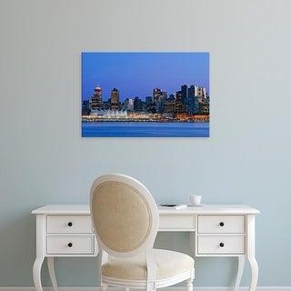 Easy Art Prints Rob Tilley's 'Vancouver Skyline' Premium Canvas Art