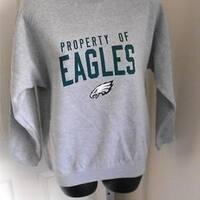 MINOR-FLAW Philadelphia Eagles Kids Medium (M 10/12) Sweatshirt Reebok