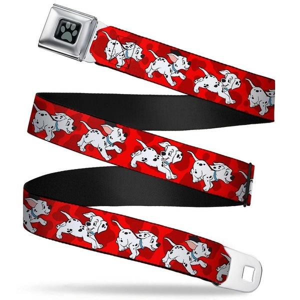 Dalmatian Paw Full Color Black Gray Dalmatians Running Paws Reds White Seatbelt Belt