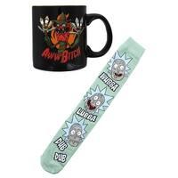 Rick and Morty Knee High Socks and 11oz Scary Terry Mug Bundle - Multi