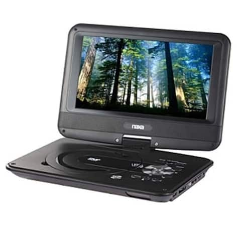 NAXA NPD-952 9 in. TFT LCD Swivel Screen Portable DVD Player with USB-SD-MMC Inputs