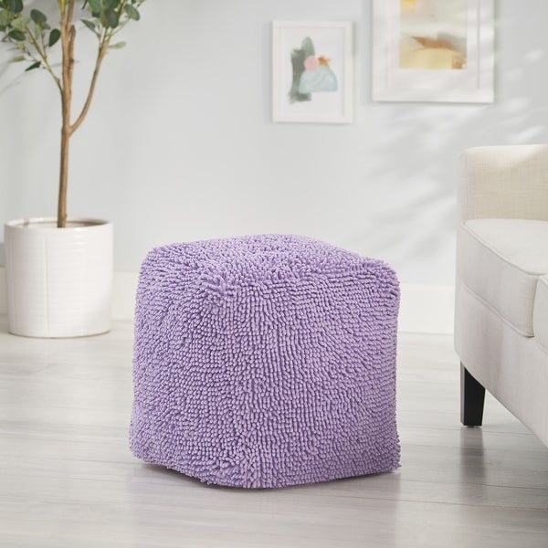 Moloney Modern Microfiber Chenille Square Pouf by Christopher Knight Home. Opens flyout.