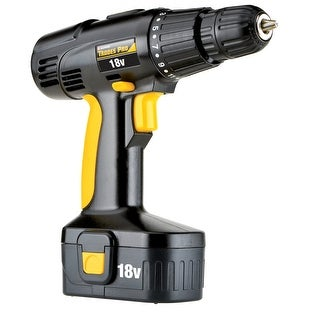 "Trades Pro 18 Volt Cordless Power Drill 3/8"" Variable Speed Clutch Reversible Keyless Chuck - 836710"
