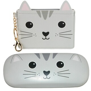 Sass & Belle Nori Cat Kawaii Friends Coin Purse and Glasses Case Set - One size