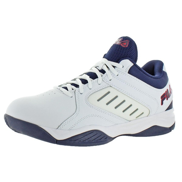 Shop Fila Mens Bank Basketball Shoes Leather Lightweight