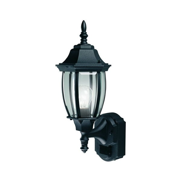 """Heath Zenith HZ-4192 18-1/2"""" Tall 1-Light 180 Degree Motion Activated Outdoor Wall Sconce - n/a"""