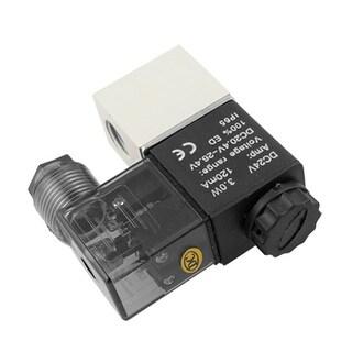 Unique Bargains DC 24V 2 Position Pneumatic Solenoid Control Valve 1/2