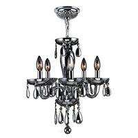 Worldwide Lighting W83127C16-SM Gatsby 5-Light Candle Style Crystal Chandelier - Chrome - n/a