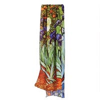 "Women's Fine Art Fashion Scarves - Van Gogh's ""Irises"" - Medium"