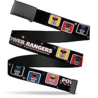 Blank Black  Buckle Power Rangers Chibi Blocks W Stars Webbing Web Belt