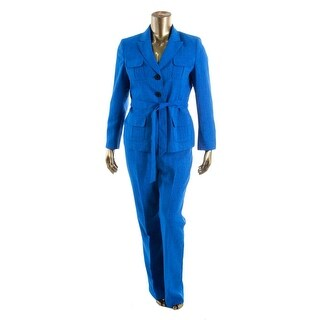 Le Suit Womens Yacht Club Woven 2PC Pant Suit