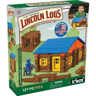 Knex 00857 Lincoln Logs Oak Creek Lodge Set, Ages 3+, 137-Pieces