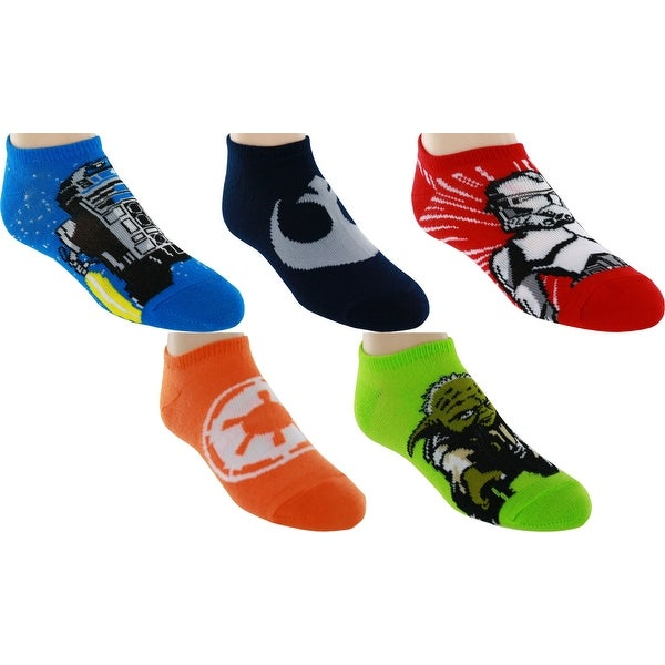 Star Wars No-Show Socks, 5 Pack, 6-8.5