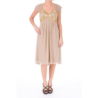 Sue Wong Womens Embellished Embroidered Cocktail Dress - 6