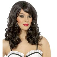 Black Pop Star Halloween Costume Wig - standard - one size