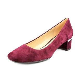 Naturalizer Wanda Women Square Toe Suede Heels