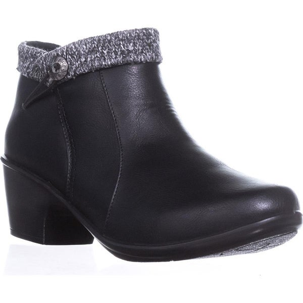 Easy Street Dawna Ankle Booties, Black/Knit