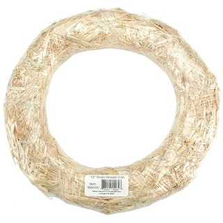 Straw Wreath-10""