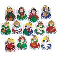 "3""X4"" Set Of 13 - Angel Ornaments Felt Applique Kit"
