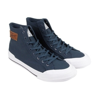 HUF Classic Hi Mens Blue Suede High Top Lace Up Sneakers Shoes