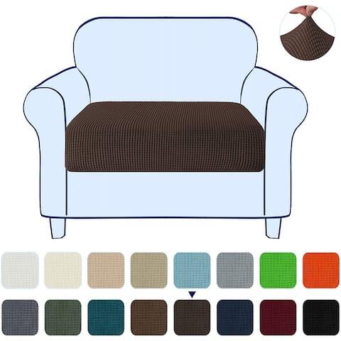 Subrtex Stretch Armchair Cushion Cover Textured Grid Furniture Covers
