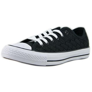 Converse Chuck Taylor All Star Ox Women Round Toe Canvas Black Sneakers