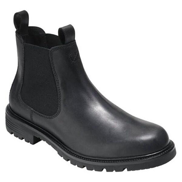 Shop Cole Haan Men's Grantland Waterproof Chelsea Boot Black