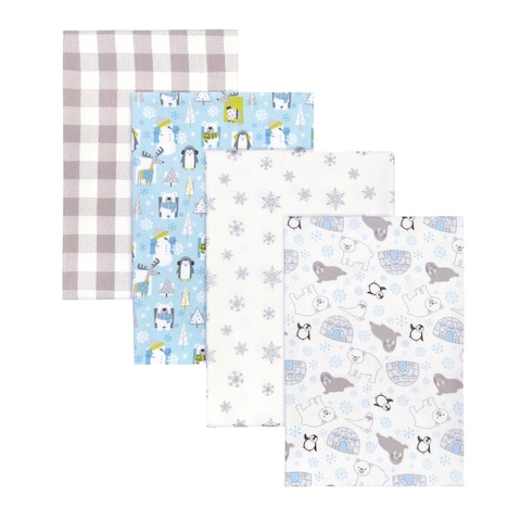 Igloo Pals 4 Pack Flannel Receiving Blankets