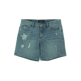 Lucky Brand Womens Denim Shorts Denim Destroyed - 27