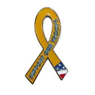 Pinmart Support Our Troops Awareness Lapel Pin - multi - One Size