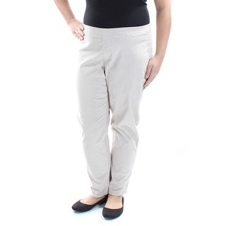 Womens Beige Casual Straight leg Pants Size XL