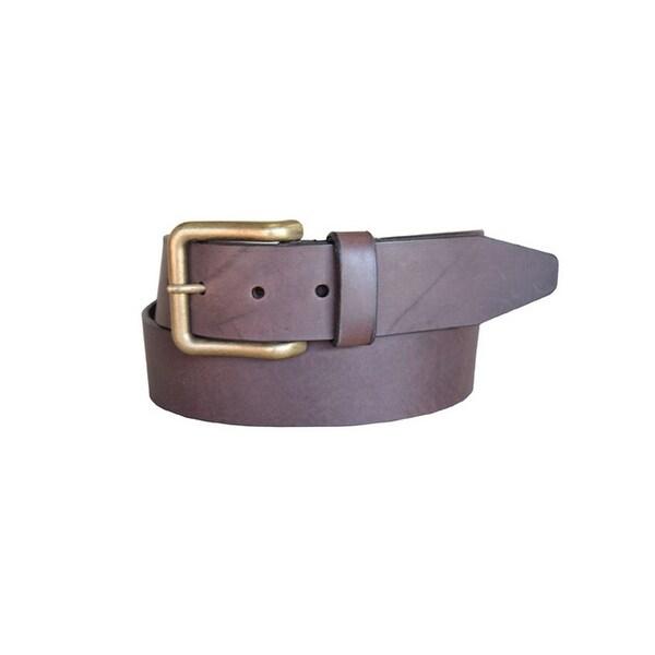 Lejon Western Belt Mens Catch & Release Leather Brown