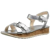 Nine West Women's Conference Metallic Sandal - 6.5