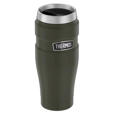Thermos 16oz ss travel tumbler matte army green