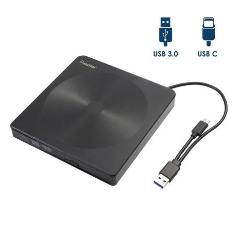 Multi-function USB and Type C External Optical DVD CD Rewriter Drive Burner