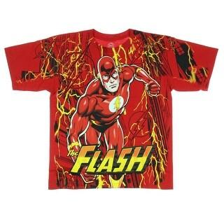 DC Comics The Flash Lightning Fast Boys T-shirt