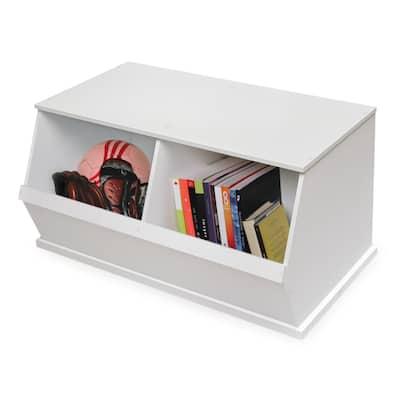 Badger Basket Two Bin Stackable Storage Cubby