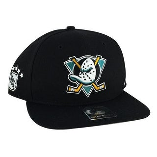 47' Brand Mighty Ducks Sure Shot Black Snapback Hat Cap