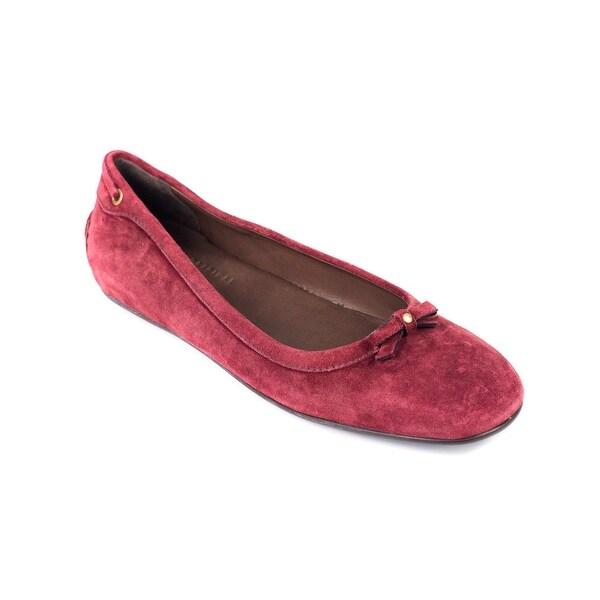 e81f8298 Shop Car Shoe By Prada Womens Red Tie Suede Flats - Free Shipping ...