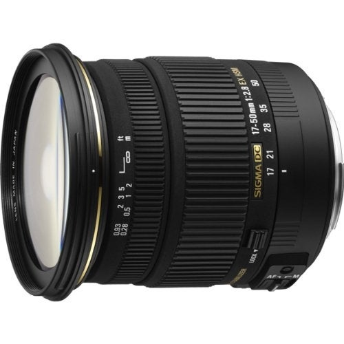 Sigma 17-50mm f/2.8 EX DC OS HSM Zoom Lens for Canon EOS Digital - Black