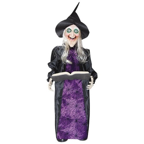 Animated Porch Squatter Witch Halloween Prop